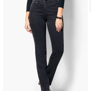 Talbots High-rise Straight-leg Curvy black jeans